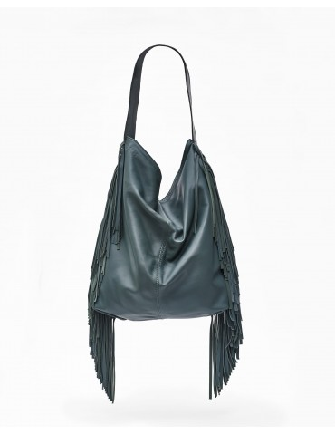 green bag leather