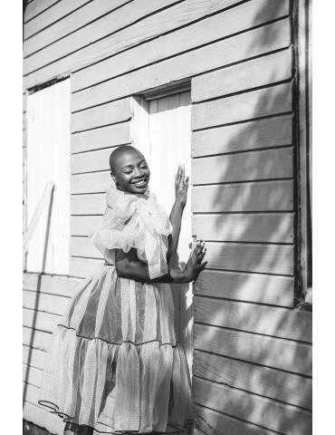 Cotton Loops - Polka dress
